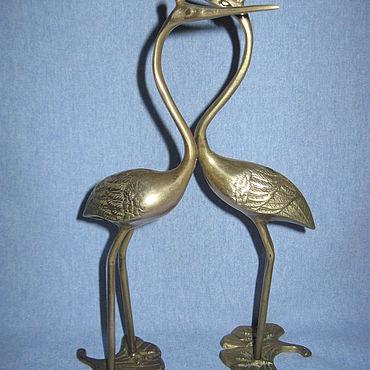 Для дома и интерьера ручной работы. Ярмарка Мастеров - ручная работа Пара Аистов бронза литье Германия. Handmade.