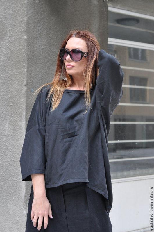 Блузка из льна. Модная блузка. Блузка ручной работы. Ярмарка Мастеров.