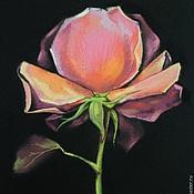 Картины и панно handmade. Livemaster - original item Painting flowers pastel rose artist Kristina Gavrilova. Handmade.