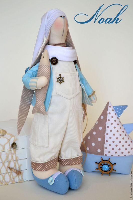 Куклы Тильды ручной работы. Ярмарка Мастеров - ручная работа. Купить Текстильный зайка Noah (повтор с изменениями). Handmade. Тильда