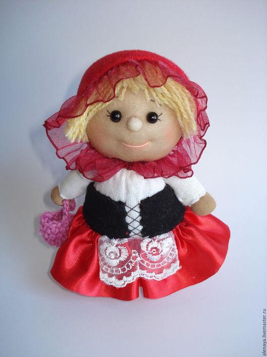 Человечки ручной работы. Ярмарка Мастеров - ручная работа. Купить Кукла-пупс. Красная Шапочка. Handmade. Ярко-красный, бусины