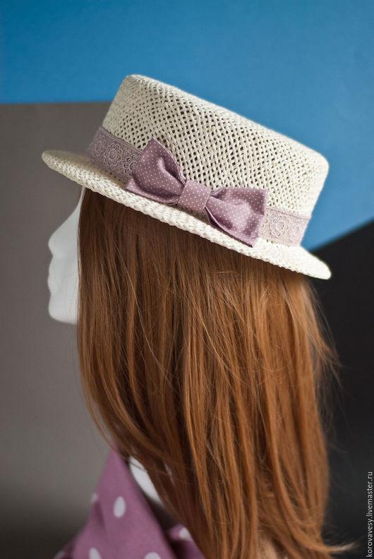 """Шляпы ручной работы. Ярмарка Мастеров - ручная работа. Купить """"Варенье из розовых лепестков"""". Handmade. Белый, летняяшляпа, горошек, кружево"""