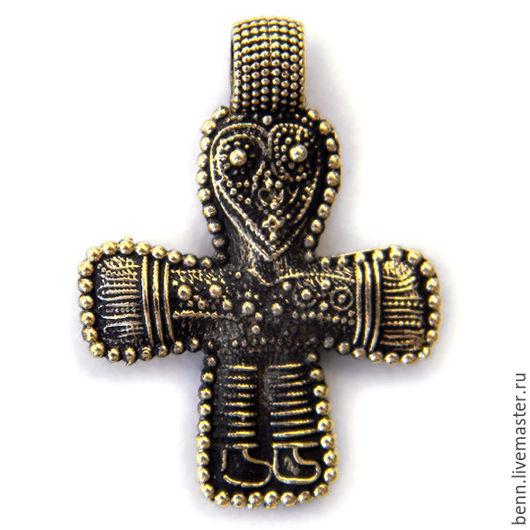 Кулоны, подвески ручной работы. Ярмарка Мастеров - ручная работа. Купить Крест из Бирки (1). Handmade. Крест, бронзовый крест