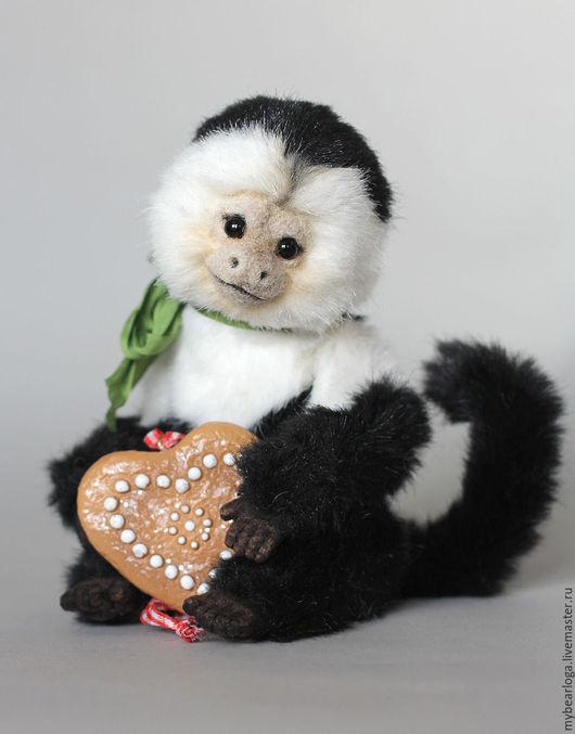 Мишки Тедди ручной работы. Ярмарка Мастеров - ручная работа. Купить Обезьянка капуцин Мико. Handmade. Чёрно-белый, обезьяна