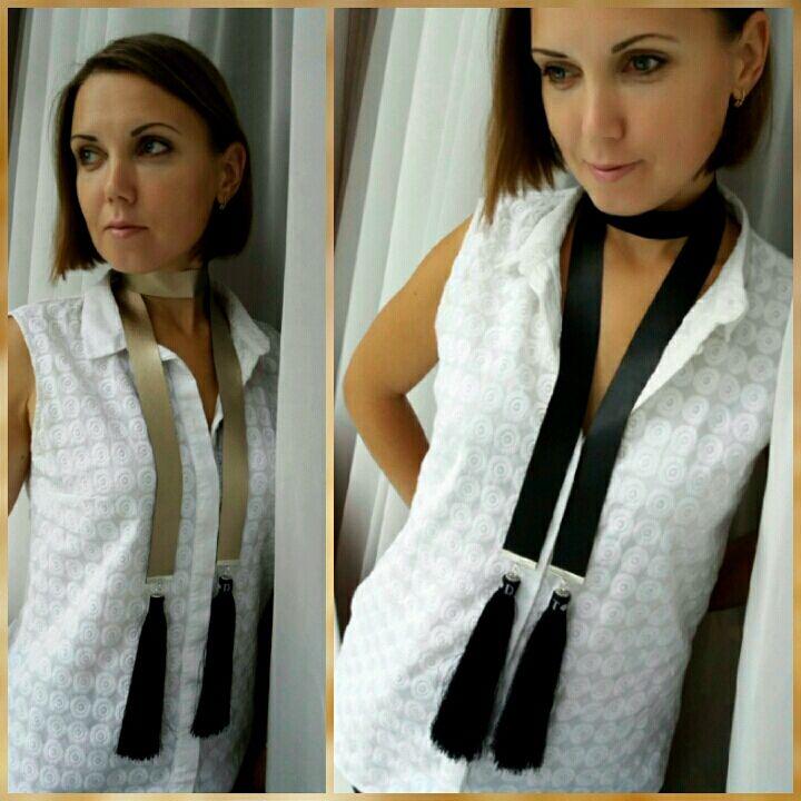 Bilateral corbata-choker 'Cepillo XL', Ties, Moscow,  Фото №1