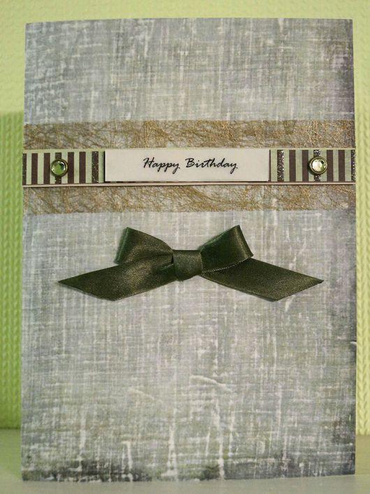 """Открытки для мужчин, ручной работы. Ярмарка Мастеров - ручная работа. Купить Музыкальная открытка с Вашим поздравлением """"Happy Birthday"""". Handmade."""
