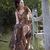 """Одежда ручной работы. Ярмарка Мастеров - ручная работа платье ручной работы из шелка и шерсти """"Montserrat 2"""". Handmade."""