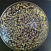 """Посуда ручной работы. Ярмарка Мастеров - ручная работа Декоративная тарелка """"Вензеля"""". Handmade."""