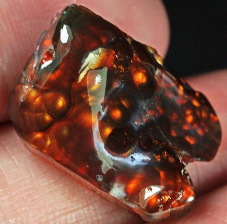 Fire Agate 'Volcano'. Cabochon, Cabochons, Moscow,  Фото №1