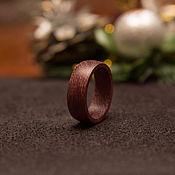 Кольца ручной работы. Ярмарка Мастеров - ручная работа Кольцо из дерева амарант. Handmade.