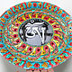 Order Decorative plate 'Tibetan Om' hand-painted. Art by Tanya Shest. Livemaster. . Plates Фото №3