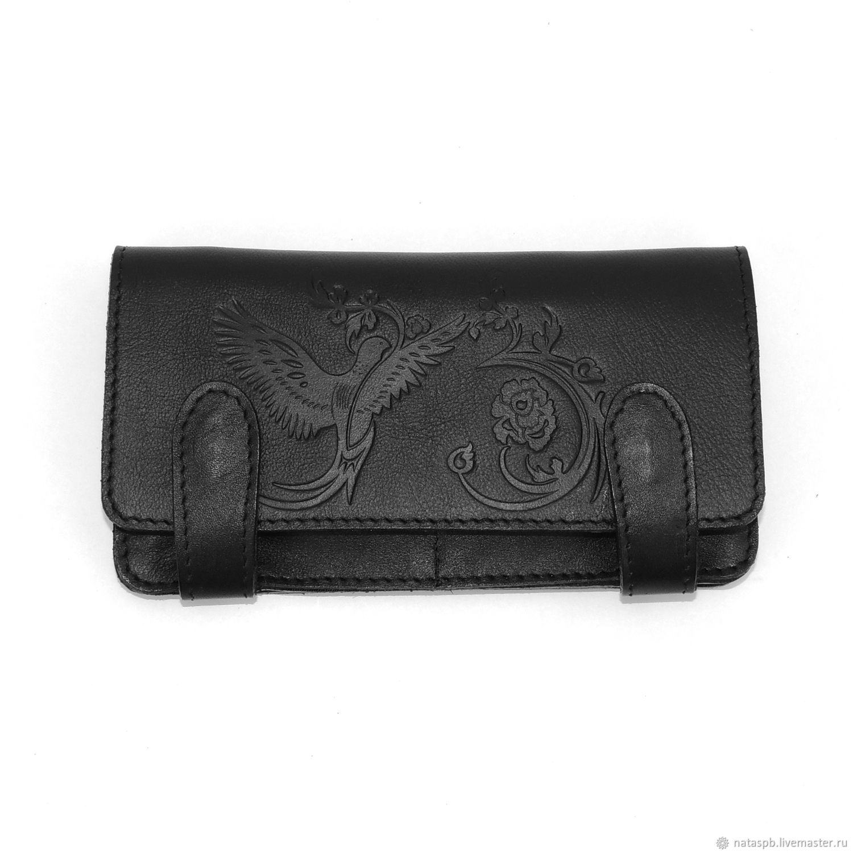 Purse black leather, Wallets, St. Petersburg,  Фото №1