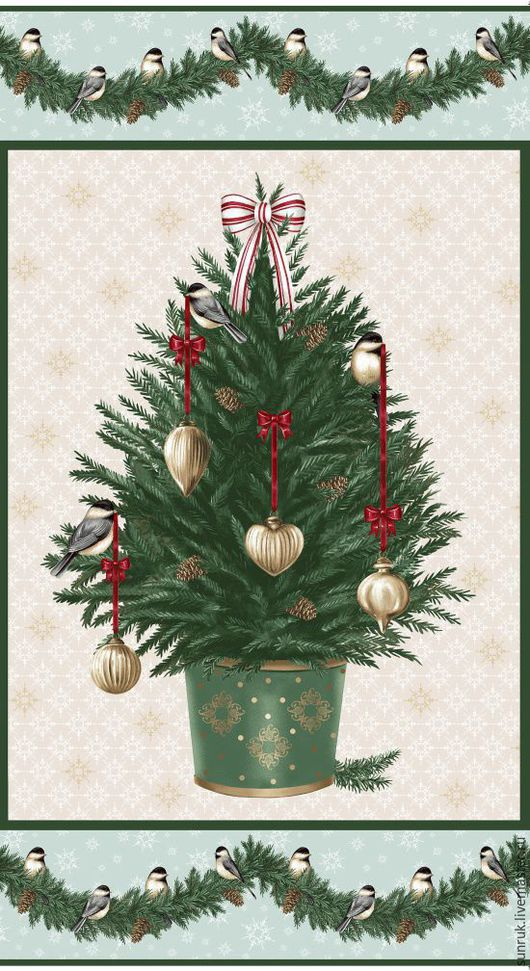 """Шитье ручной работы. Ярмарка Мастеров - ручная работа. Купить Купон ткани для пэчворка из коллекции """"Праздничный дом"""", Дания. Handmade."""