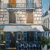Картины ручной работы. Ярмарка Мастеров - ручная работа Картина маслом - Французское кафе. Handmade.