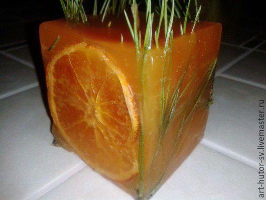 """Свечи ручной работы. Ярмарка Мастеров - ручная работа. Купить Ароматическая свеча """"Апельсинка"""". Handmade. Оранжевый, апельсиновый, подарок подруге"""