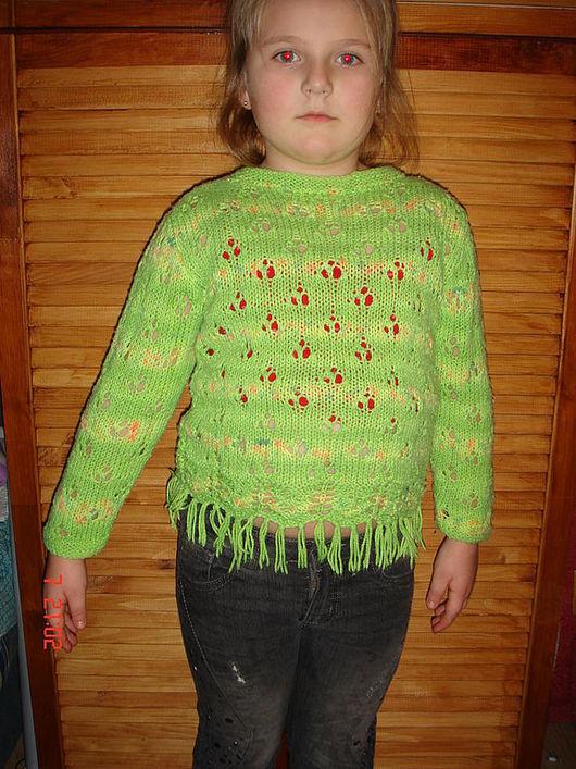Кофты и свитера ручной работы. Ярмарка Мастеров - ручная работа. Купить Джемпер зеленое лето. Handmade. Для детей