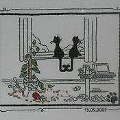 Картины и панно ручной работы. Ярмарка Мастеров - ручная работа Всё о кошках. Handmade.