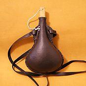 Субкультуры handmade. Livemaster - original item Leather flask. Handmade.