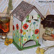 """Для дома и интерьера ручной работы. Ярмарка Мастеров - ручная работа Чайный домик """"Полевые цветы"""". Handmade."""