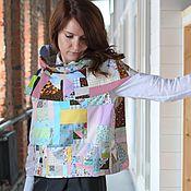 """Одежда ручной работы. Ярмарка Мастеров - ручная работа Блуза-жилет """"Легкая конструкция"""" безрукавка женская. Handmade."""