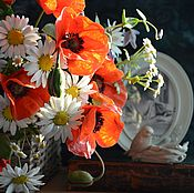 Цветы и флористика handmade. Livemaster - original item A bouquet of wild flowers from polymer clay. Handmade.