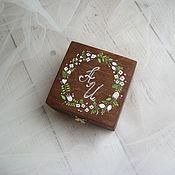 Свадебный салон ручной работы. Ярмарка Мастеров - ручная работа Rustic Wed - свадебная шкатулка для обручальных колец. Handmade.