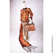"""Одежда ручной работы. Ярмарка Мастеров - ручная работа Жакет сумка палантин""""Осенний микс""""комплект. Handmade."""