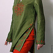 Одежда ручной работы. Ярмарка Мастеров - ручная работа Костюм брючный льняной Пион. Handmade.