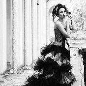 Свадебный салон ручной работы. Ярмарка Мастеров - ручная работа Черное свадебное платье. Handmade.