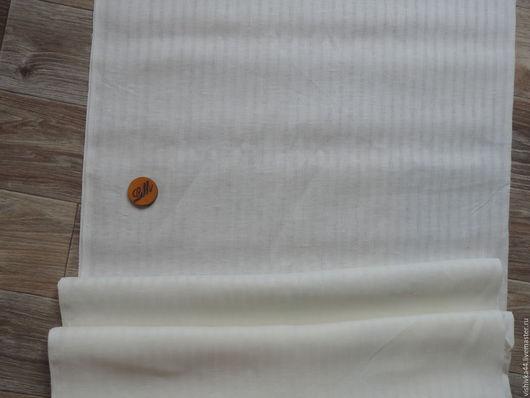 Шитье ручной работы. лен ткань сетка полоска белая. Оксана    Льняной мир. Интернет-магазин Ярмарка Мастеров.
