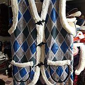 Мужская одежда handmade. Livemaster - original item Vest made of sheepskin