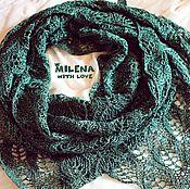 Аксессуары handmade. Livemaster - original item Knitted shawl made of Taiga flax.. Handmade.