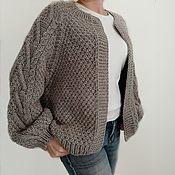 handmade. Livemaster - original item cardigans: Handmade Knitted Women`s Bomber Jacket Cardigan. Handmade.