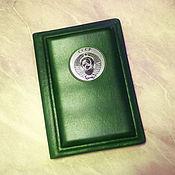 """Канцелярские товары handmade. Livemaster - original item Обложка на паспорт """"Ваше благородие"""" из цветной натуральной кожи. Handmade."""