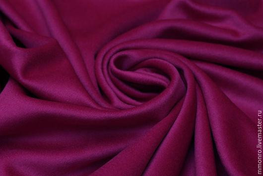 Шитье ручной работы. Ярмарка Мастеров - ручная работа. Купить Ткань высокого класса с благородным блеском для пальто Фуксия. Handmade.
