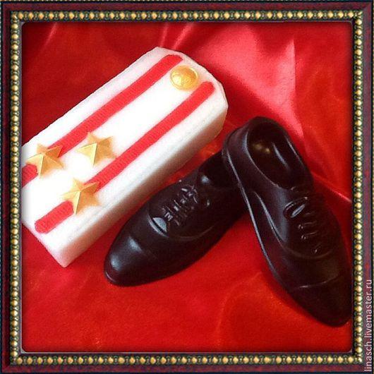 Мыло ручной работы. Ярмарка Мастеров - ручная работа. Купить Праздничный набор. Handmade. Черный, 23 февраля подарок, погон