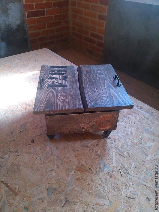 Персональные подарки ручной работы. Ярмарка Мастеров - ручная работа. Купить стол на колесах,Теплый,креативный,подарок.... Handmade. Коричневый
