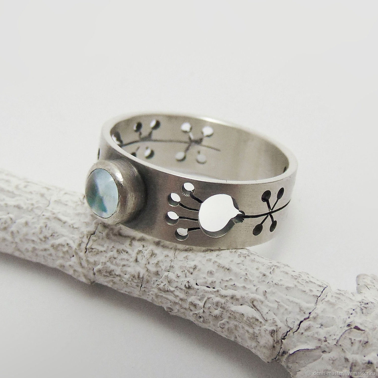 Ring of silver 925 with natural Topaz (silver 925, Topaz NAT.), Rings, Yaroslavl,  Фото №1