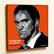 Картины и панно handmade. Livemaster - original item Painting poster Quentin Tarantino in the style of Pop Art. Handmade.