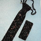 """Украшения ручной работы. Ярмарка Мастеров - ручная работа галстук и браслет """" Орион """". Handmade."""