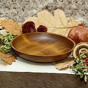 Посуда handmade. Livemaster - original item Wooden Plate 19 cm 100%#65. Handmade.