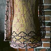 Одежда ручной работы. Ярмарка Мастеров - ручная работа Платье-туника винтажное Дыхание Ветра. Handmade.