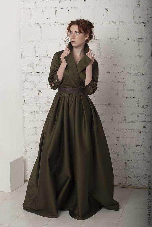 """Платья ручной работы. Ярмарка Мастеров - ручная работа. Купить Платье """"Шотландская королева"""". Handmade. Платье, болотный, шерсть"""