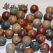 Материалы для творчества handmade. Livemaster - original item Picasso Jasper 10mm smooth beads (natural stone). Handmade.