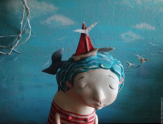 Коллекционные куклы ручной работы. Ярмарка Мастеров - ручная работа. Купить Море в голове. Handmade. Ярко-красный, кораблик, мечта
