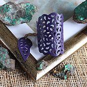Украшения handmade. Livemaster - original item Leather bracelet Purple lace. Handmade.