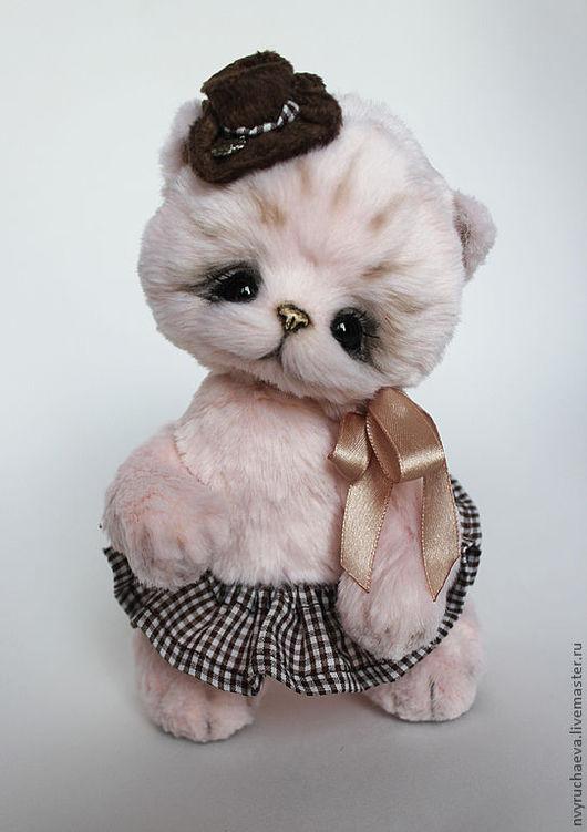 Мишки Тедди ручной работы. Ярмарка Мастеров - ручная работа. Купить Пинки. Handmade. Бледно-розовый, коричневый, металлический гранулят