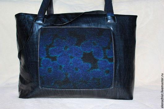 """Женские сумки ручной работы. Ярмарка Мастеров - ручная работа. Купить Кожаная сумка """"Pandora"""". Handmade. Тёмно-синий"""