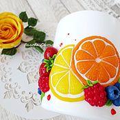 Посуда ручной работы. Ярмарка Мастеров - ручная работа Кружка Клубника в шоколаде и ягодный микс. Handmade.