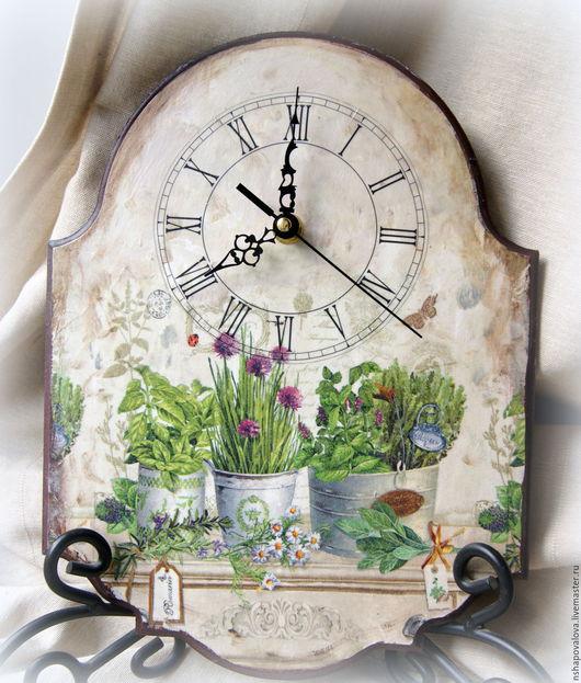 """Часы для дома ручной работы. Ярмарка Мастеров - ручная работа. Купить Часы """"Травы Прованса"""". Handmade. Комбинированный, прованс, розмарин"""